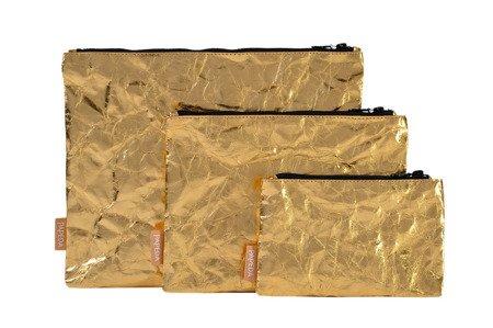 Etui / Kosmetyczka złota  M