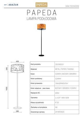 LAMPA PODŁOGOWA KOLOR BEŻOWY/SREBRNY