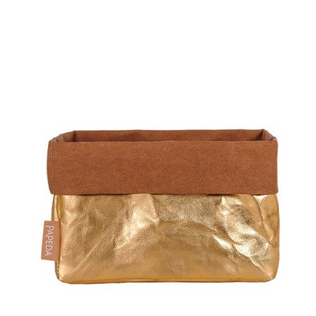 Organizer kolor złoty rozmiar M wymiary 11 cm x 17 cm x 11 cm