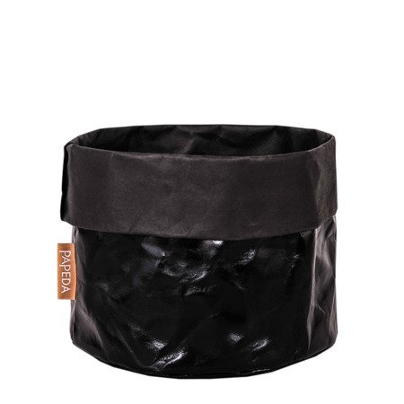Osłonka na doniczkę kolor czarny 10 cm / 10 cm