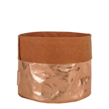 Osłonka na doniczkę kolor miedziany  12 cm 14 cm