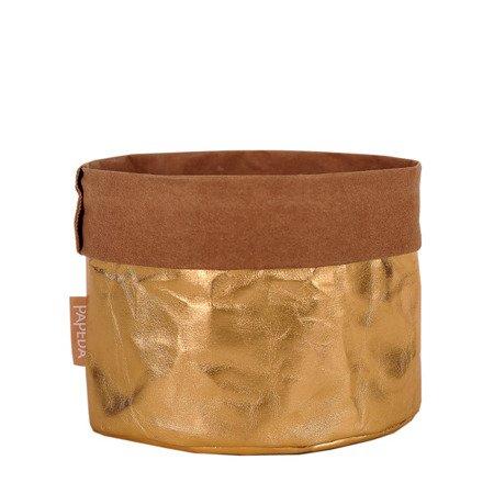 Osłonka na doniczkę kolor złoty S (OP 1503) średnica 10 x10/14 cm h