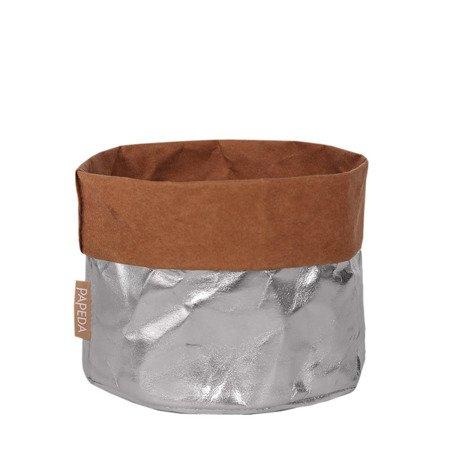 Osłonka na doniczki kolor srebrny XXL (OP 1528)średnica 32x 35/41* cm h